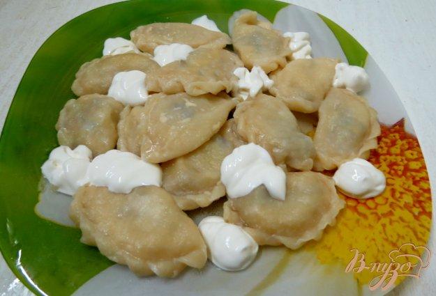 фото рецепта: Вареники с картофелем и опятами