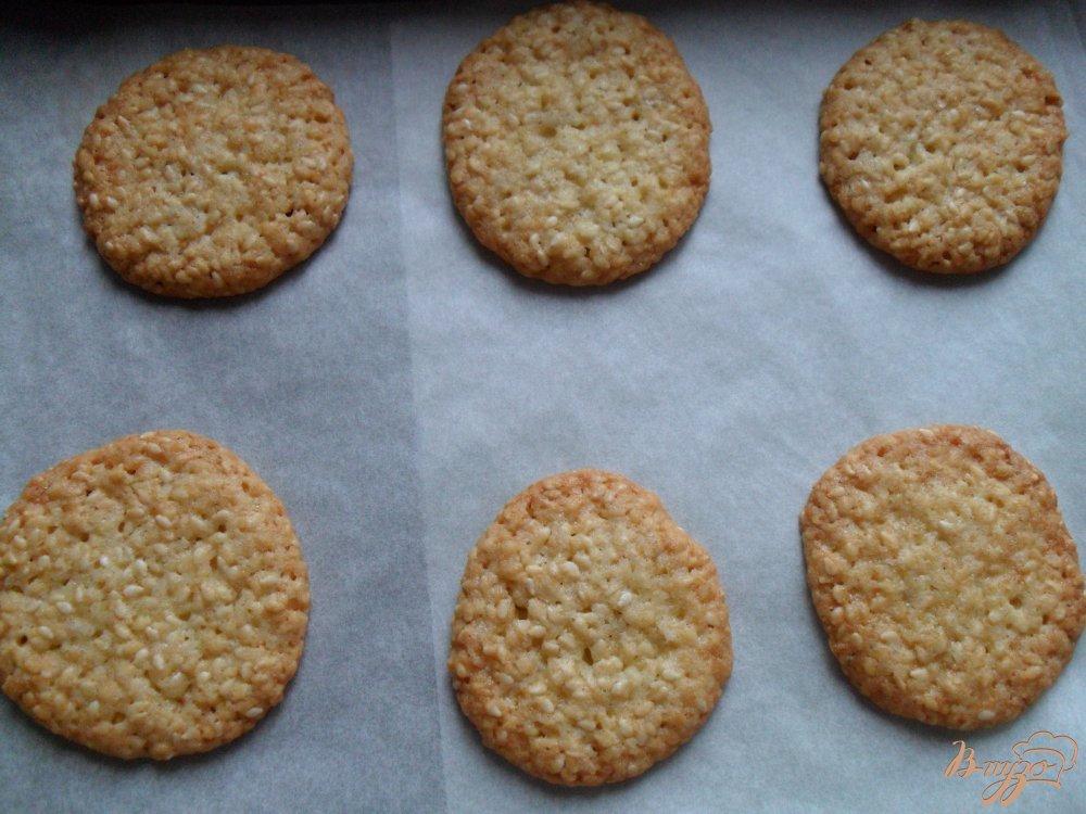 Фото приготовление рецепта: Кунжутное печенье шаг №3