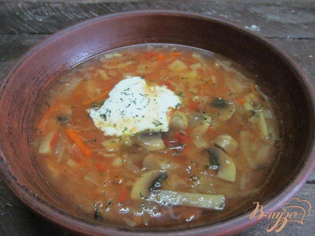 фото рецепта: Щи из квашеной капусты и грибами