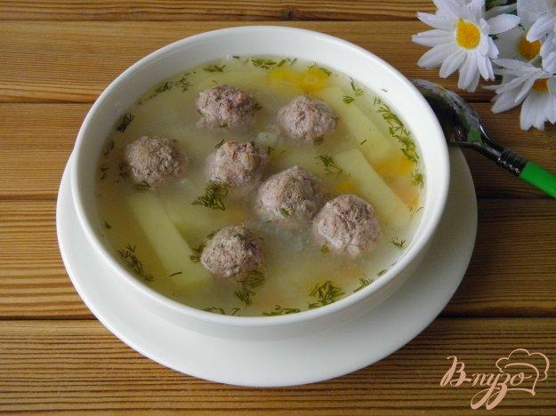 фото рецепта: Манный суп с фрикадельками
