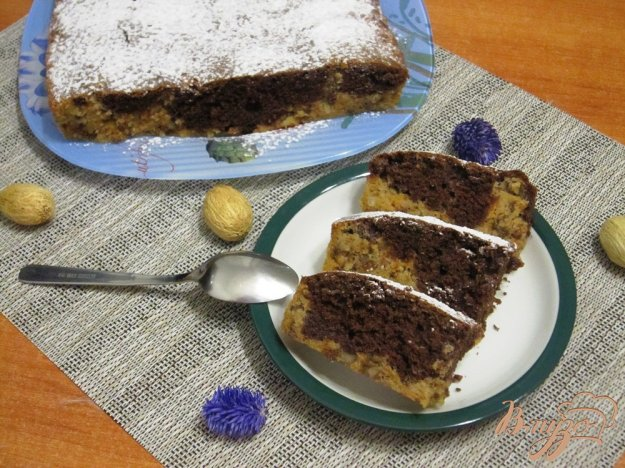 фото рецепта: Кекс с тыквой и орехами