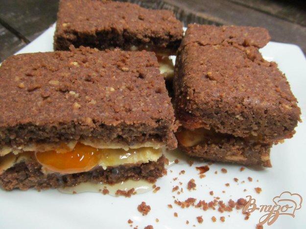 фото рецепта: Пирожное с творогом и мандариновым вареньем
