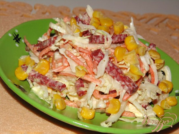 рецепт салата из сырокопченой колбасы