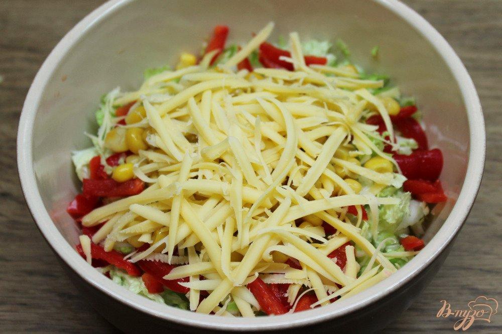 Салат из красного перца пекинской капусты