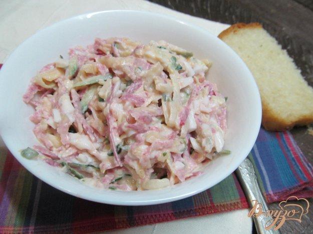 фото рецепта: Салат из огурца и редьки