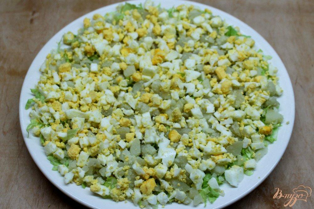 Салат с печени трески и пекинской капустой рецепт с