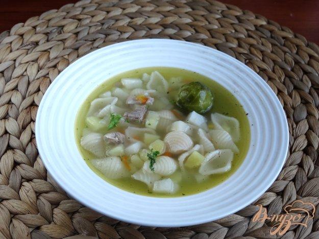 фото рецепта: Суп с брюссельской капустой в мультиварке
