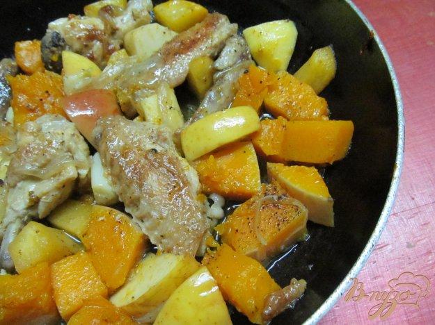 Тыква с курицей в духовке рецепт пошагово