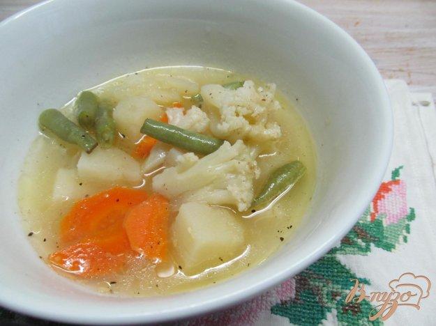 фото рецепта: Суп из овощей с кукурузной крупой