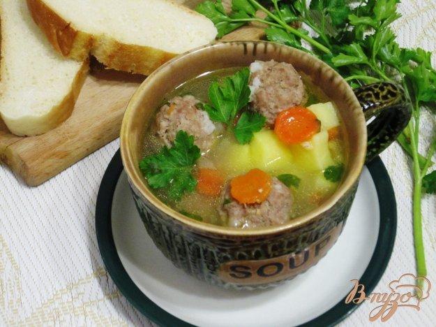 фото рецепта: Суп с овощами и фрикадельками