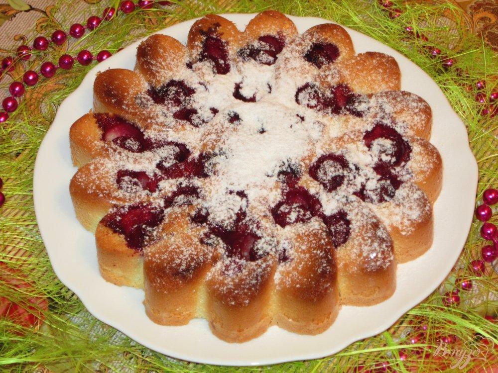 Пирожки с вишней печеные рецепт с пошагово
