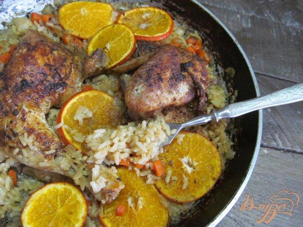 фото рецепта: Курица с рисом под мандарином