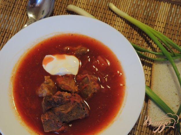 фото рецепта: Борщ с двумя видами мяса