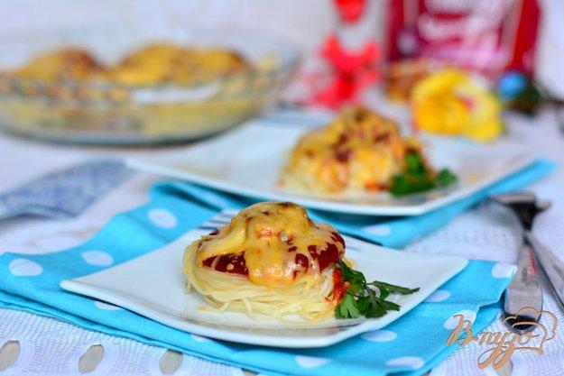 фото рецепта: Макаронные гнезда с мясными шариками