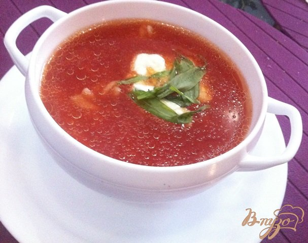фото рецепта: Томатный суп на курином бульоне