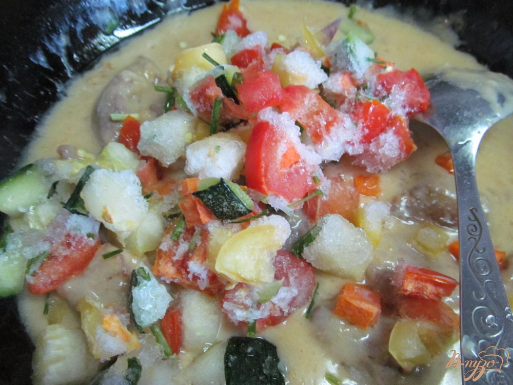 замороженные овощи на сковороде рецепты фото