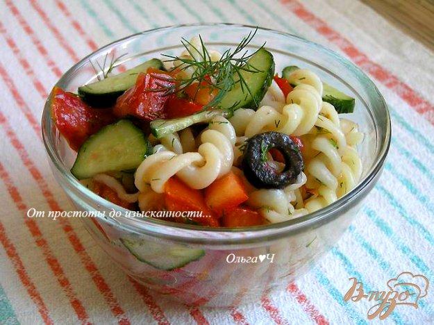фото рецепта: Овощной салат с пастой