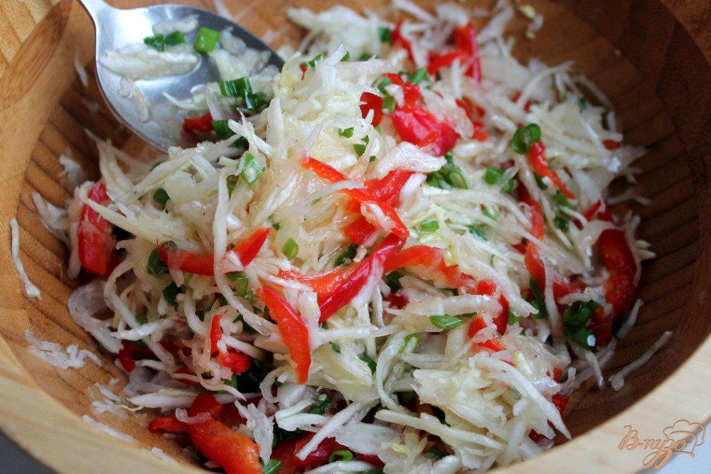 Капуста и болгарский перец салат