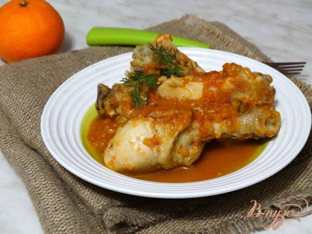 фото рецепта: Курица в томатно-сливочном соусе