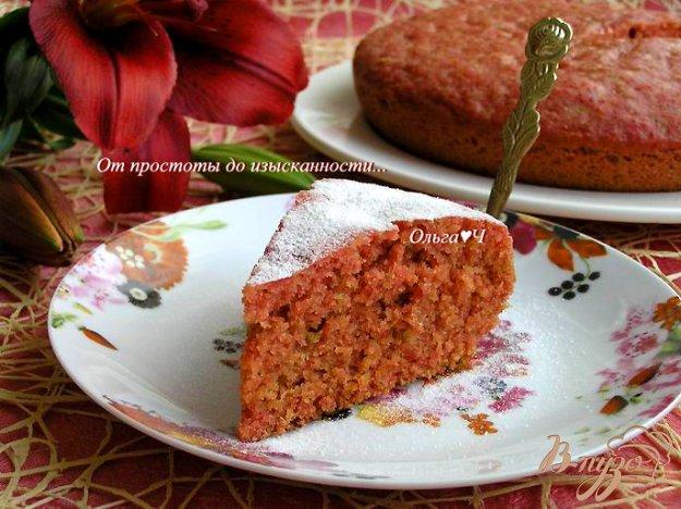 фото рецепта: Свекольно-апельсиновый пирог (в мультиварке)