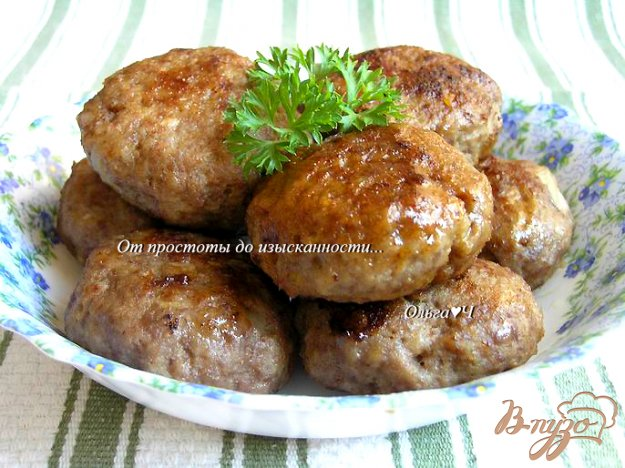 Котлеты из телятины в духовке рецепт пошагово