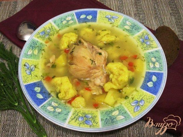 фото рецепта: Суп с курицей и клецками в мультиварке