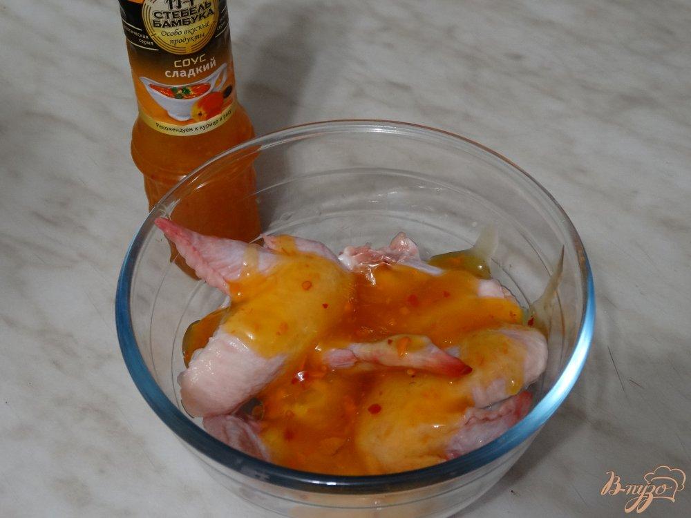 Крылышки в кисло сладком соусе с фото