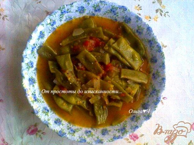 фото рецепта: Стручковая фасоль в томатном соусе (в мульти)