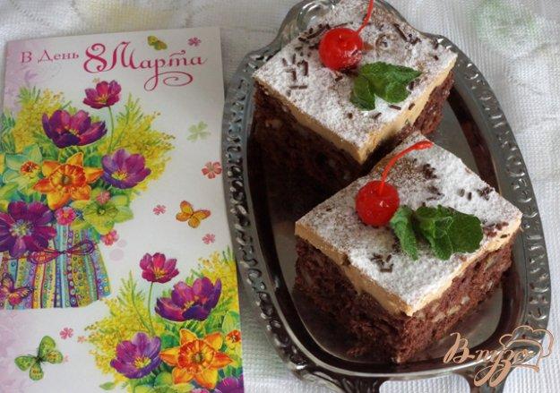 фото рецепта: Шоколадно-ореховые пирожные