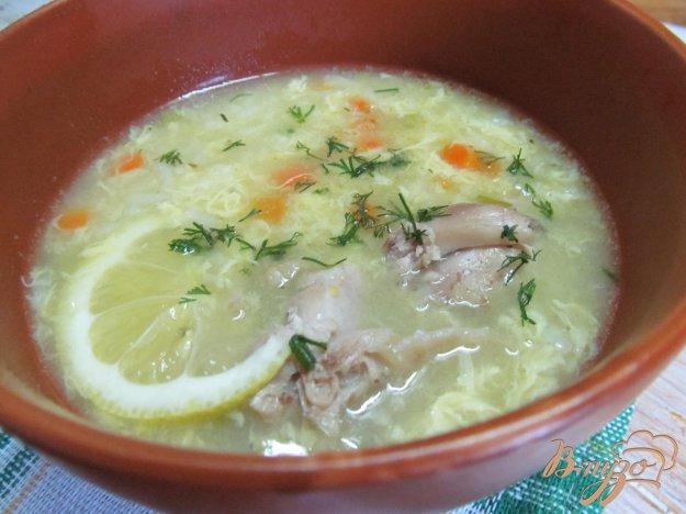 фото рецепта: Рисово-лимонный суп