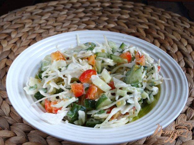 Салат с капустой огурцами и сельдереем