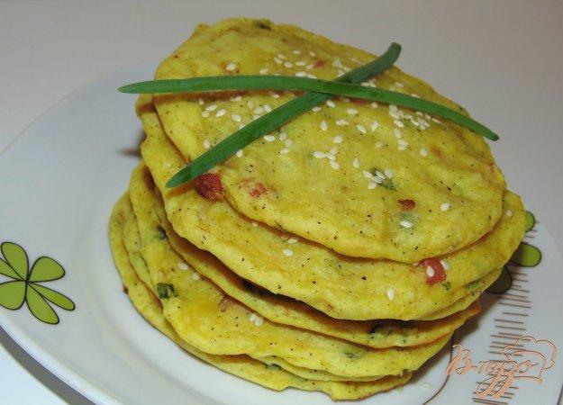 фото рецепта: Картофельные лепешки с ветчиной и зеленым луком