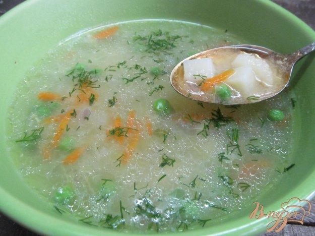 фото рецепта: Суп с кабачком и манной крупой
