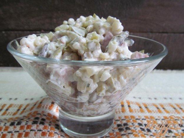 фото рецепта: Салат из булгура с домашней ветчиной и вешенками