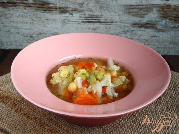 фото рецепта: Густой овощной суп с нутом