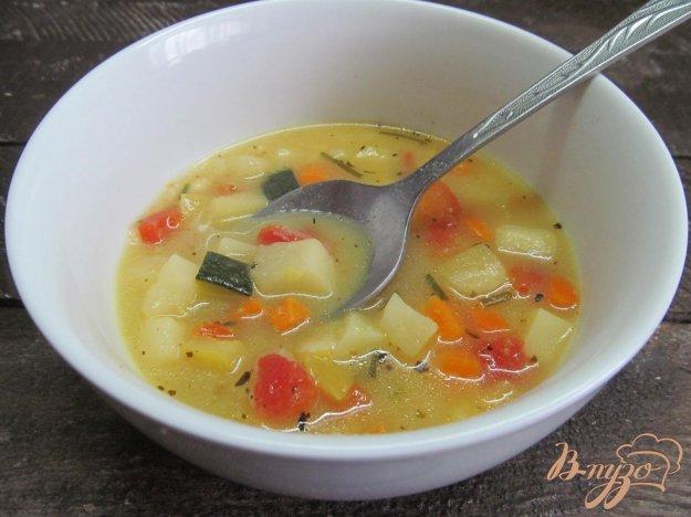 фото рецепта: Суп с кукурузной крупой и замороженными овощами