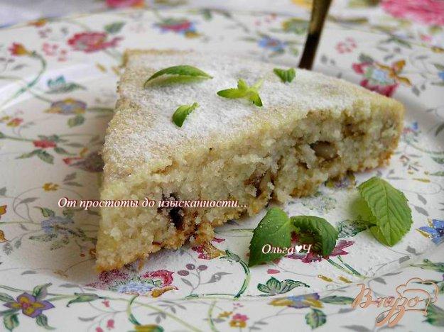 фото рецепта: Манник с орехами и земляникой