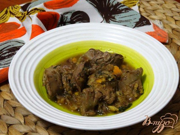фото рецепта: Куриная печень в апельсиновом соусе