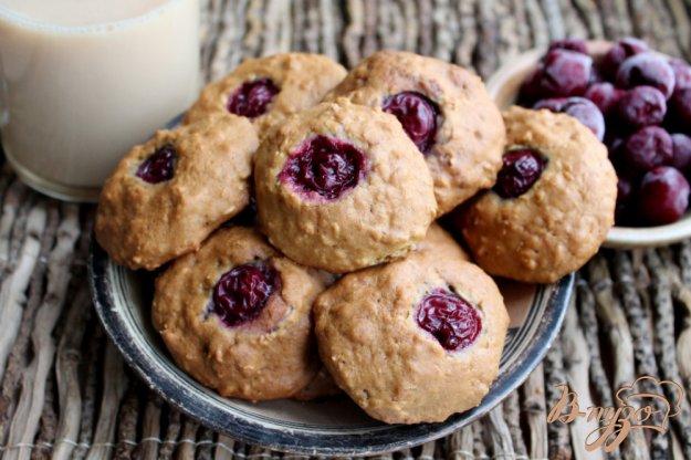 фото рецепта: Овсяное печенье с вишней