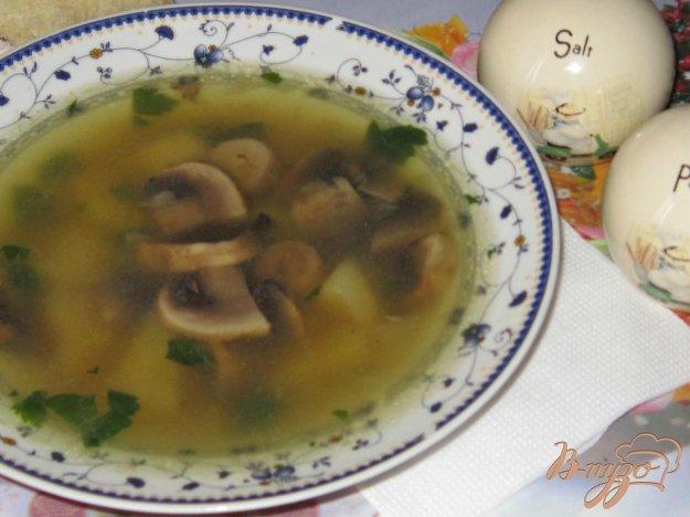 фото рецепта: Быстрый суп с шампиньонами