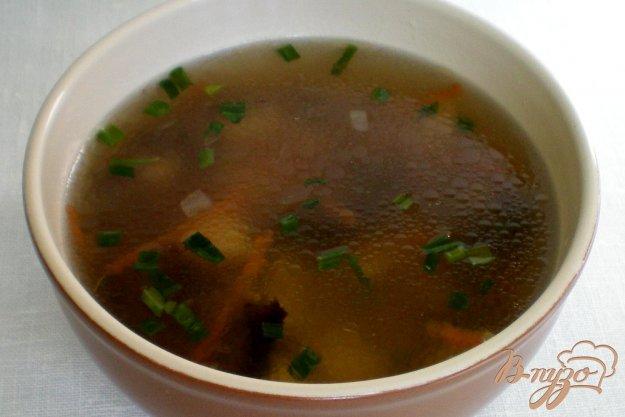 фото рецепта: Грибной суп из замороженных польских