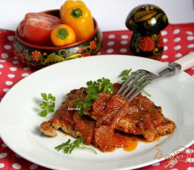 фото рецепта: Мясные отбивные в томатном соусе