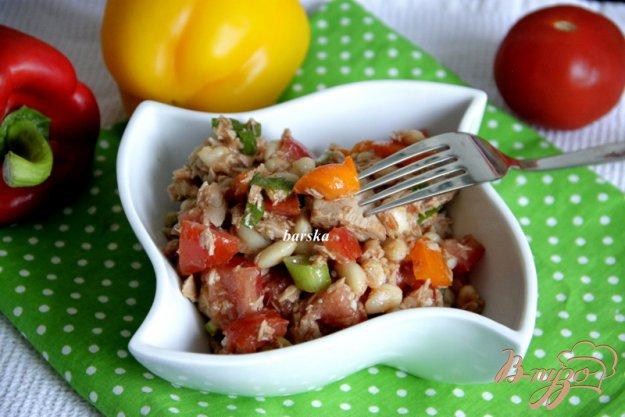 фото рецепта: Салат из фасоли и овощей с о.Мальорка