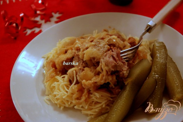 фото рецепта: Свинина, запеченная  с луком