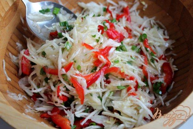 Салат с капустой болгарским перцем морковь