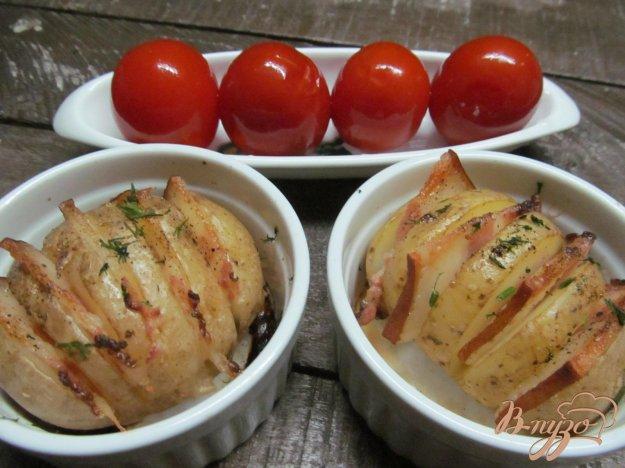 фото рецепта: Картофель гармошка с беконом