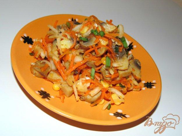 салат из моркови по-корейски и грибов