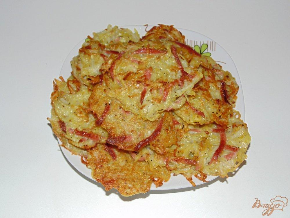 Драники из картошки и колбасы рецепт с пошагово