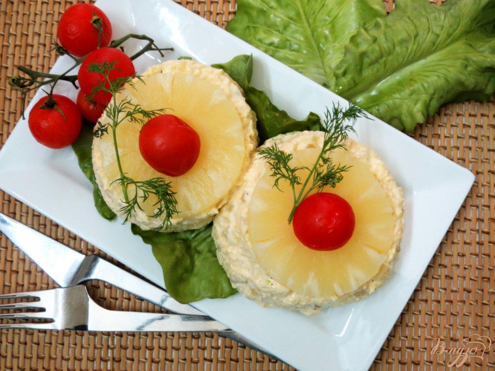 Ананас с сыром и чесноком рецепт