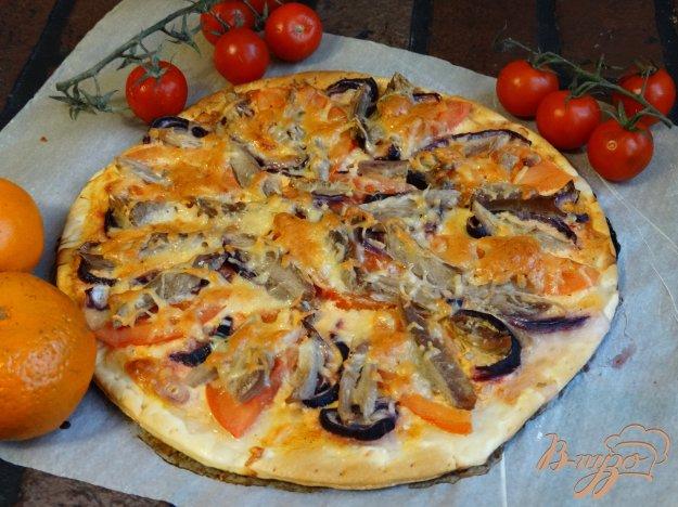 фото рецепта: Домашняя пицца с индейкой